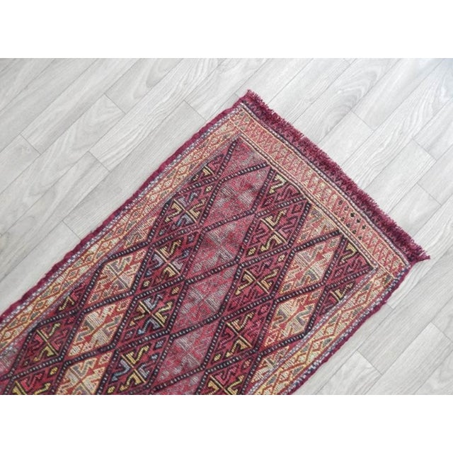 1970s Small Turkish Oushak Kilim Rug 1′6″ × 2′9″ For Sale - Image 5 of 8