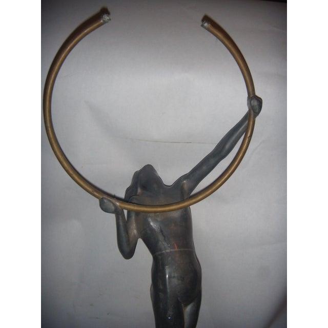 Vintage Art Deco Lady Sculpture - Image 8 of 11