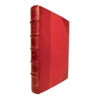 Early 20th Century Decorative Leather Bound Book, Allen's Wines of France For Sale