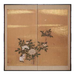 1880s Large Japanese Byobu Screen