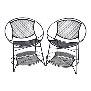 Mid Century Modern Salterini Black Radar Patio Chairs - a Pair For Sale