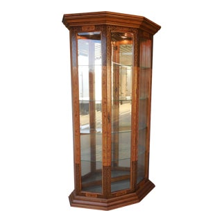 "PULASKI Chinoisere Style Lighted Top and Bottom Curio Cabinet 76""H x 42""W"
