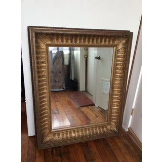 Antique Framed Carved Wood Mirror Preview