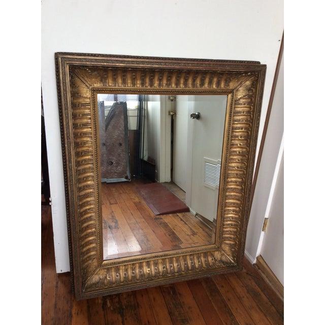 Antique Framed Carved Wood Mirror - Image 2 of 9
