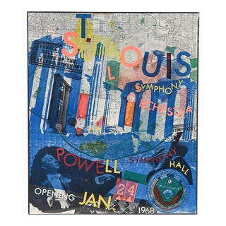 1960s Vintage Robert Rauschenberg St. Louis Symphony Orchestra Lithograph Poster For Sale