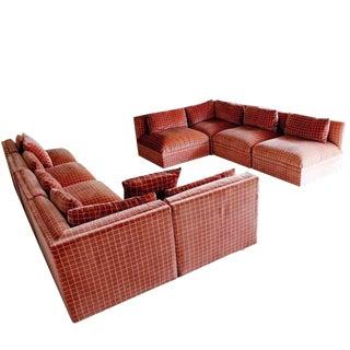 Mid Century Modern Large Baughman Directional 9 Piece Sectional Sofa 1970s