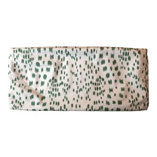 """Contemporary Brunschwig & Fils Les Touches Green Pillowcase - 24"""" X 10"""" For Sale"""
