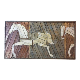 Rustic Theodore Degroot Lathe Wood Horse For Sale