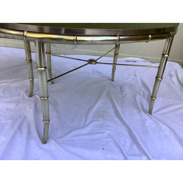 Mastercraft Faux Bamboo Brass Stools, a Pair For Sale - Image 9 of 10