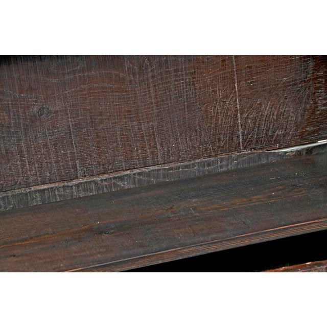 18th Century English Oak Bacon Settle For Sale - Image 10 of 11