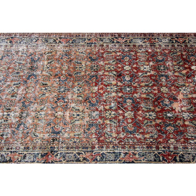 """Textile Vintage Persian Distressed Rug, 4'3"""" X 19'7"""" For Sale - Image 7 of 12"""