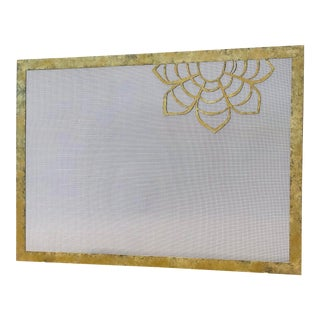 Claire Crowe Collection Dahlia Fireplace Screen For Sale