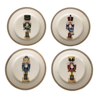 Gump's Holiday Nutcracker Plates - Set of 4 For Sale
