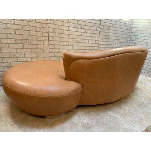 Vladimir Kagan Mid Century Modern Vladimir Kagan Cloud Sofa and Nautilus Swivel Lounge Chair - 2 Piece Set For Sale - Image 4 of 11