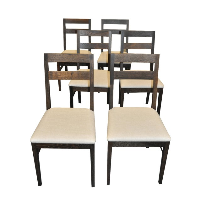 Oak Dining Chairs by Nuevo- Set of 6 - Image 1 of 7