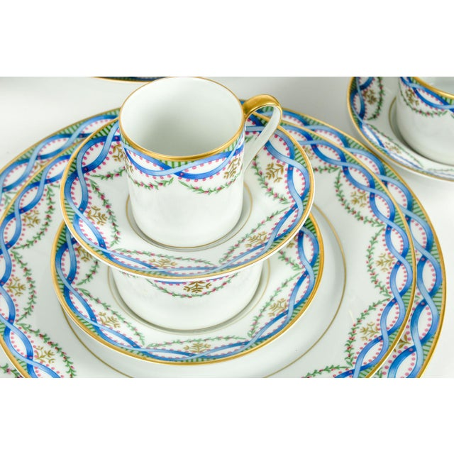 Mid 20th Century Limoges Made for Tiffany Dinner Set - Set of 42 For Sale - Image 5 of 9