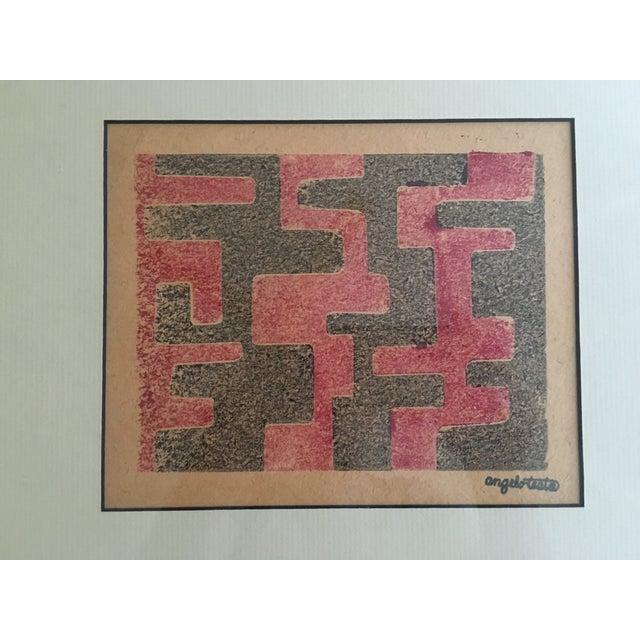Angelo Testa Mid-Century Geometric Print - Image 3 of 4