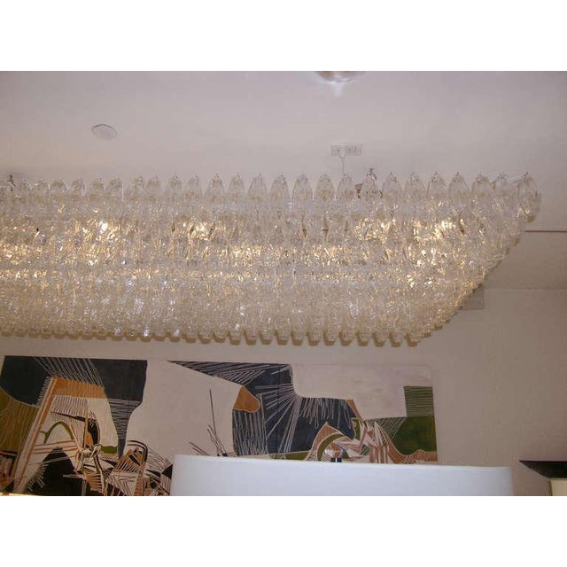 Venini Venini Clear Glass Polyhedral Chandelier For Sale - Image 4 of 5