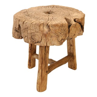 Butcher Block Side Table For Sale