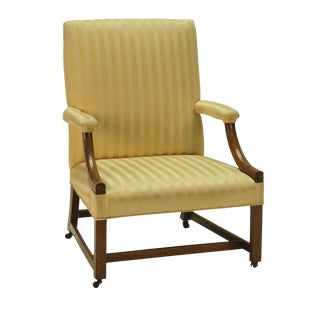 18th Century George III Period Library Chair For Sale
