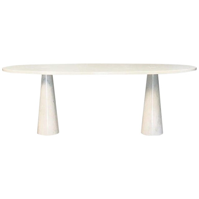 Console in Carrara Marble by Angelo Mangiarotti For Sale