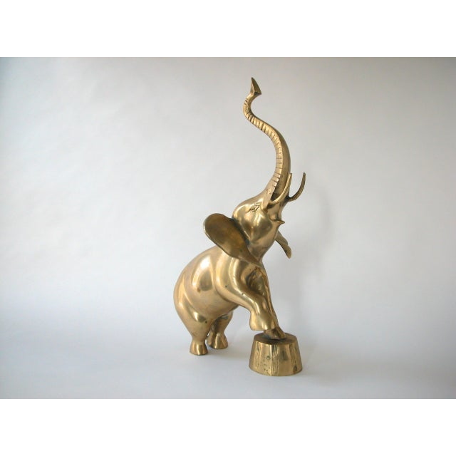 Brass Circus Elephant Figurine For Sale - Image 5 of 9