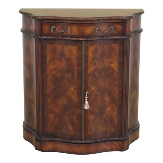 Traditional Theodore Alexander Mahogany Hall Cabinet For Sale
