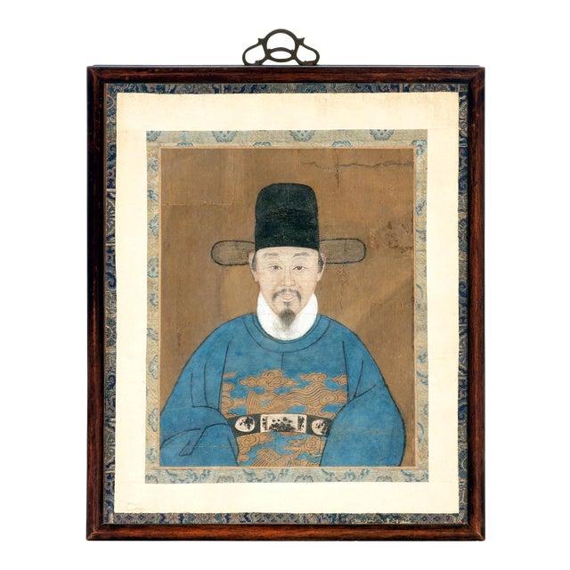 Framed Korean Official Portrait Joseon Dynasty For Sale