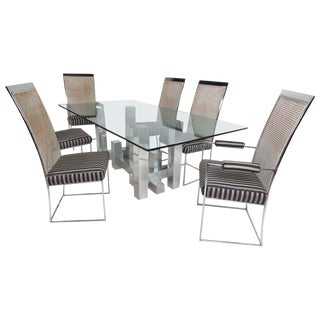 Mid-Century Modern Paul Mayen Dining Table and Six Chairs For Sale