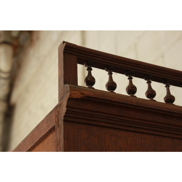 Antique Carved Oak Tall French Bar Cabinet For Sale - Image 12 of 13