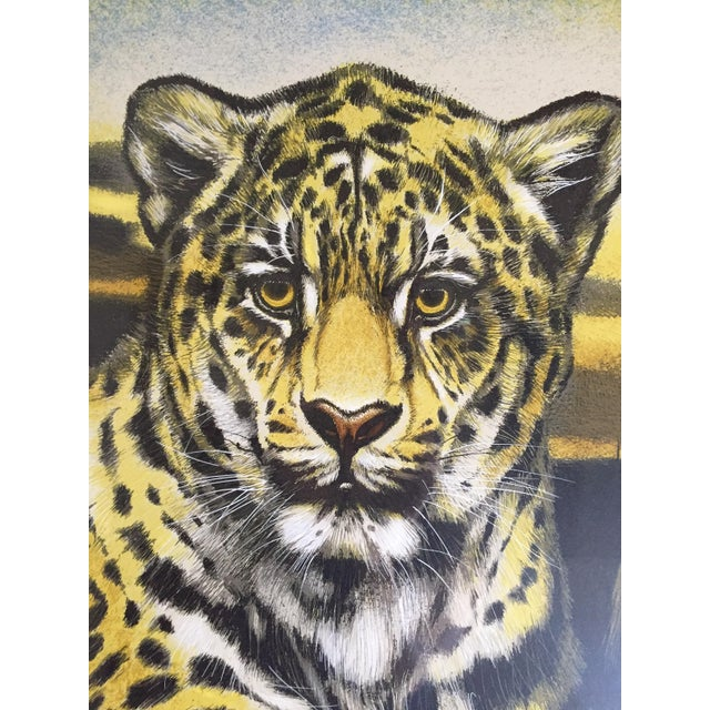 Huge Jaguar Lithograph by Martin Katon For Sale In Little Rock - Image 6 of 8