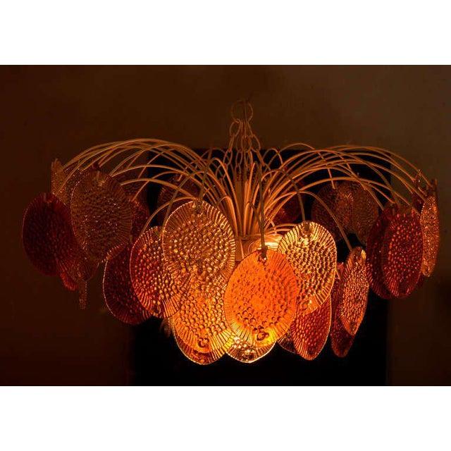 Modern Feders Orange Hanging Chandelier For Sale - Image 3 of 8