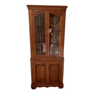 Cherry Wood Corner Cabinet For Sale