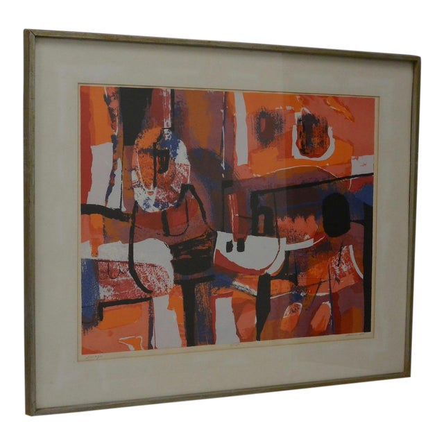 Vintage Abstract Serigraph For Sale