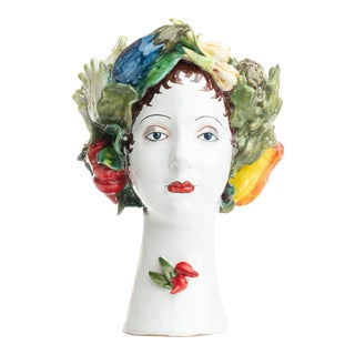 Sculpture with Vegetables, Ceramiche D'arte Dolfi For Sale