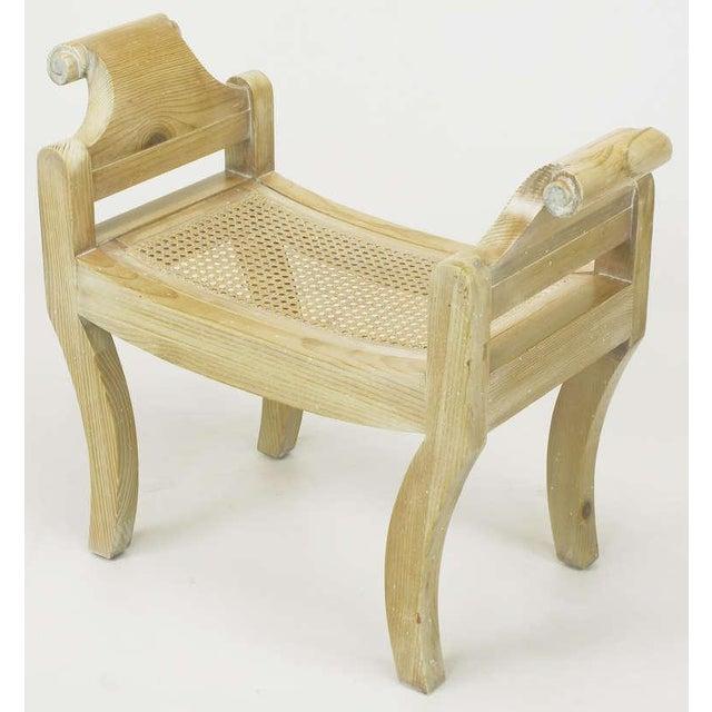 Pair Swedish Rococo Style White Glazed Pine Benches - Image 5 of 10