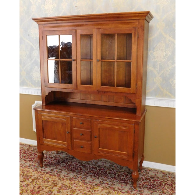 Ethan Allen Country Crossings China Cabinet For Sale In New York - Image 6 of 11
