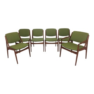 Arne Vodder Danish Modern Dining Chairs - Set of 6 For Sale