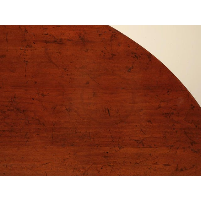 French Cherry Tilt-Top Wine Table Reproduction For Sale - Image 9 of 9