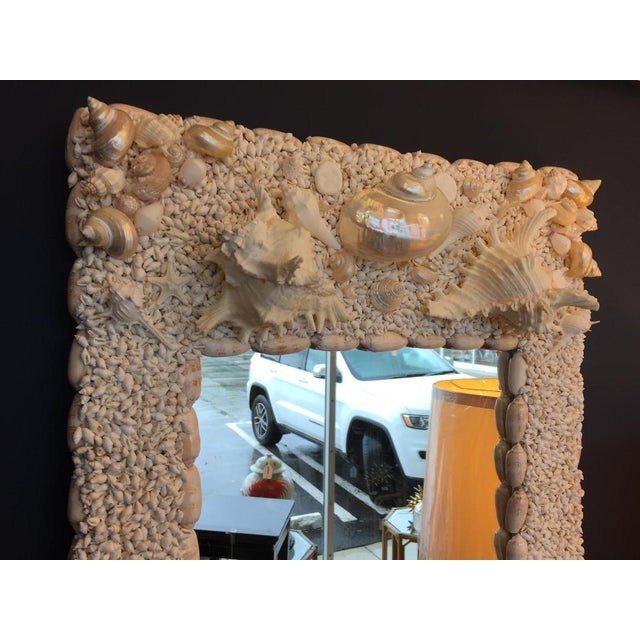 Incredible, hand-crafted mirror with shell frame -- literally hundreds of shells!