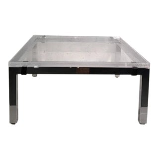 Acrylic and Chrome Cocktail Table by Charles Hollis Jones For Sale