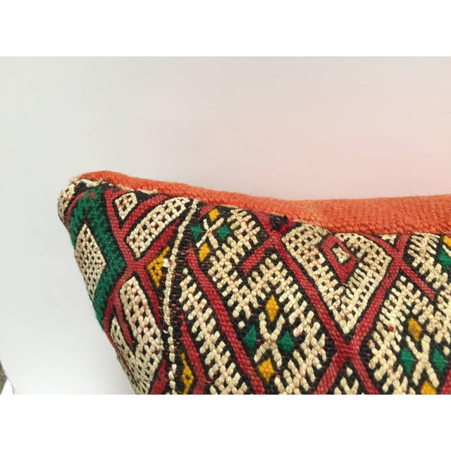 African Moroccan Berber Pillow With Tribal African Designs For Sale - Image 3 of 13