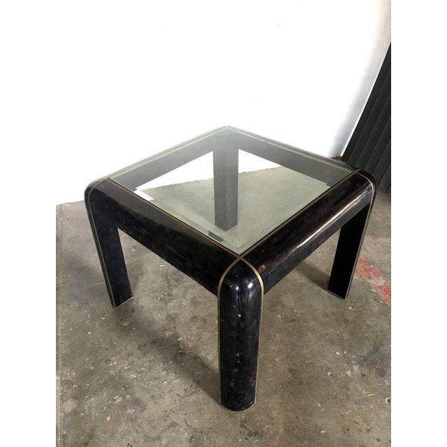 Tesselated Horn Small Dining Table by Maitland Smith For Sale - Image 9 of 10