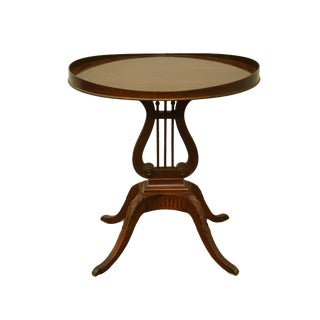 "20th Century Traditional Mersman Furniture Table Harp Base 25"" Gueridon End Table For Sale"