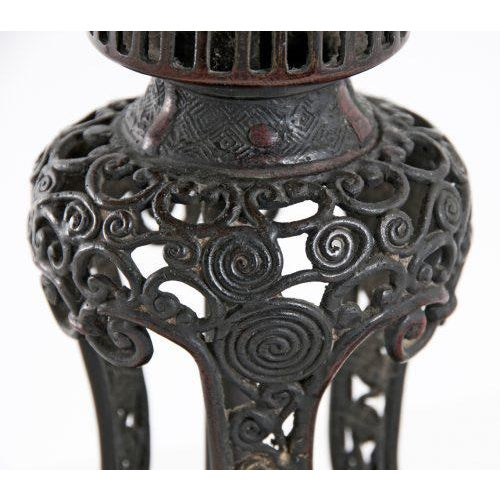1820 Japanese Bronze Pricket Lamp For Sale In San Francisco - Image 6 of 8