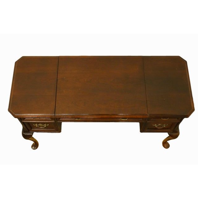 Late 20th Century Bassett Furniture Eden House Collection Cherry Vanity For Sale - Image 5 of 13