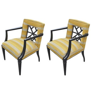1940s Hollywood Regency Armchairs - a Pair For Sale