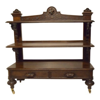 19th-Century English Oak Trolley For Sale