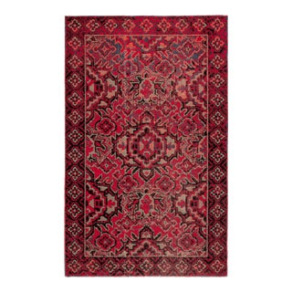 """Jaipur Living Chaya Indoor Outdoor Medallion Red Black Area Rug 5'3""""X7'6"""" For Sale"""