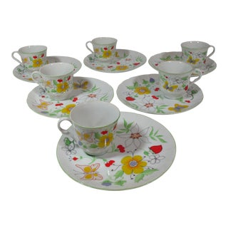 Vintage 1960s Love Story Pattern Taste Setter by Sigma, Luncheon Set - 12 Pieces For Sale